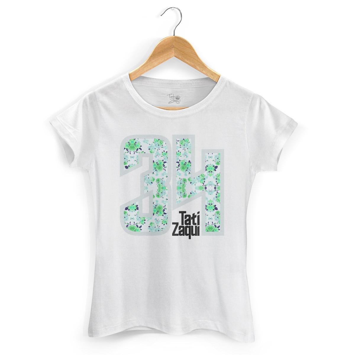Camiseta Feminina MC Tati Zaqui 34 Flowers