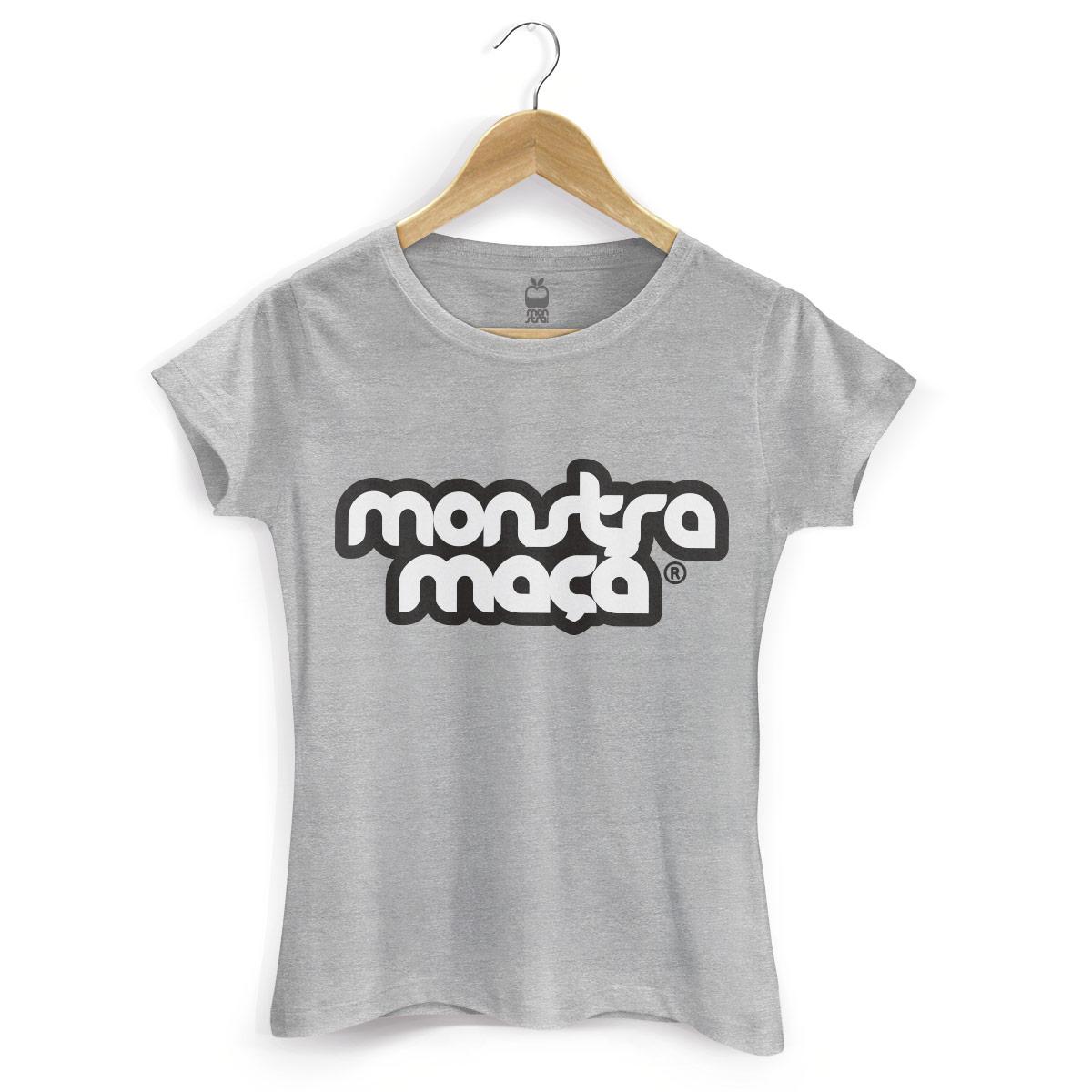Camiseta Feminina Monstra Maçã Logo