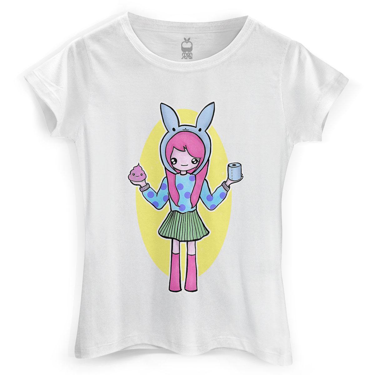 Camiseta Feminina Monstra Maçã Scan Girl