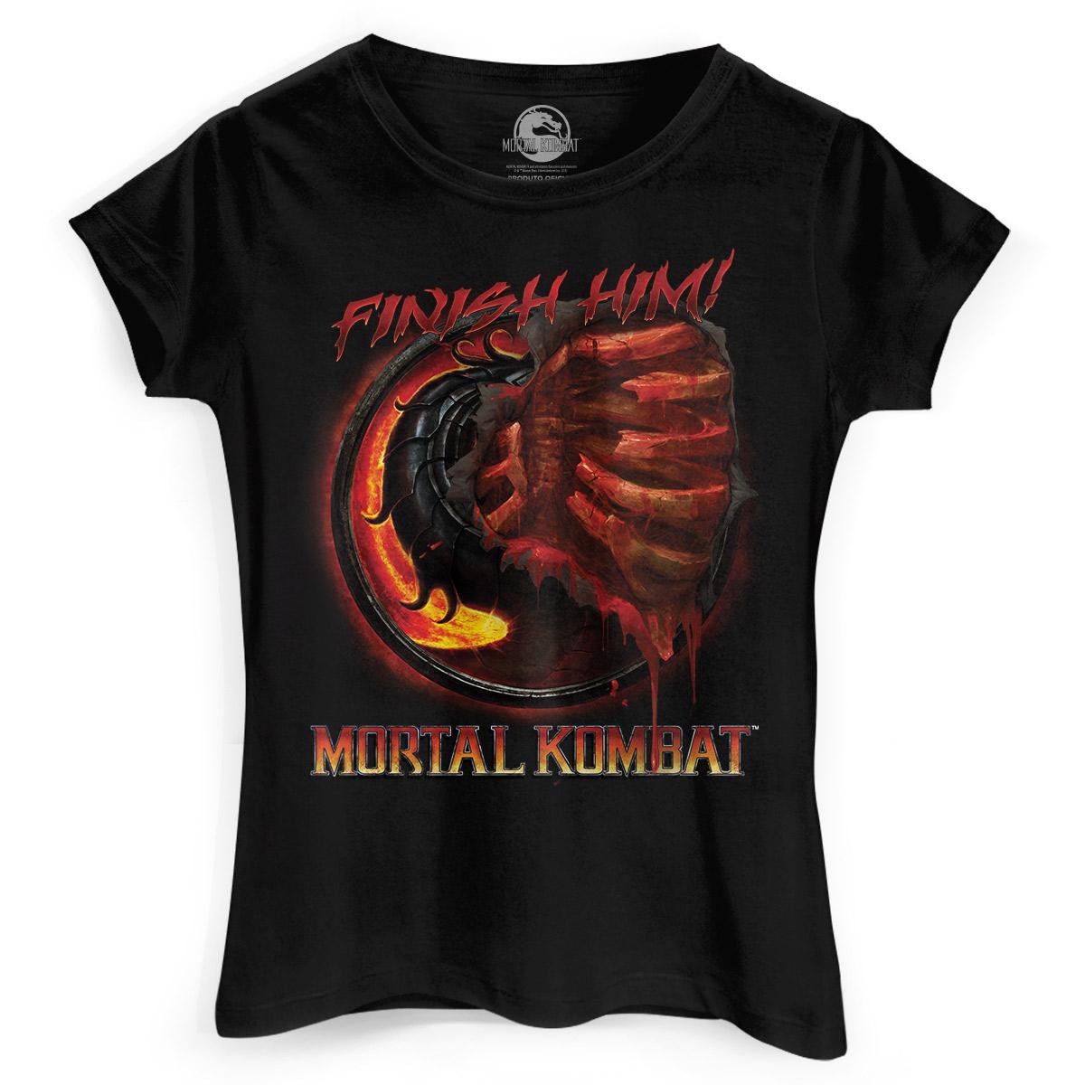 Camiseta Feminina Mortal Kombat Fatality