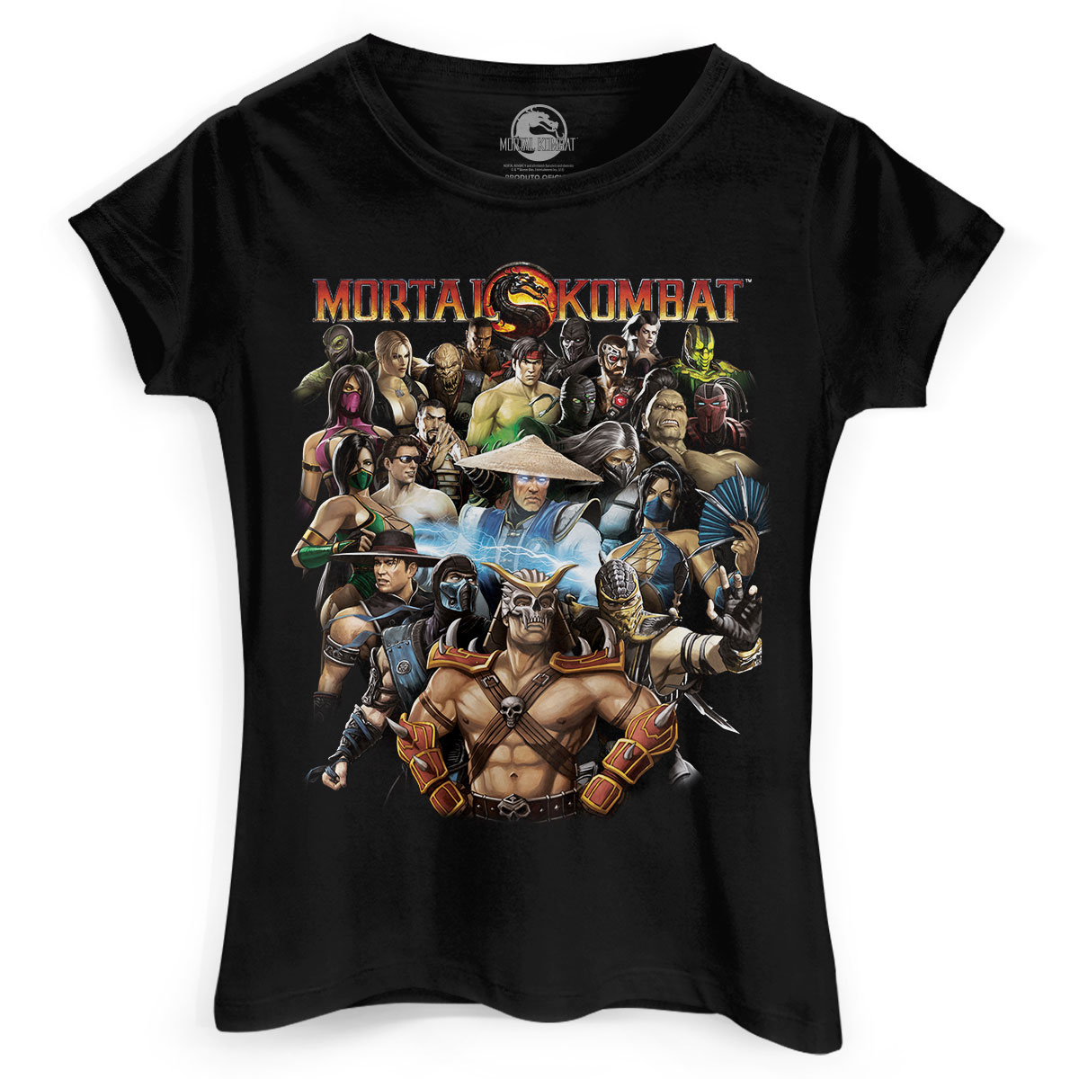 Camiseta Feminina Mortal Kombat Personagens
