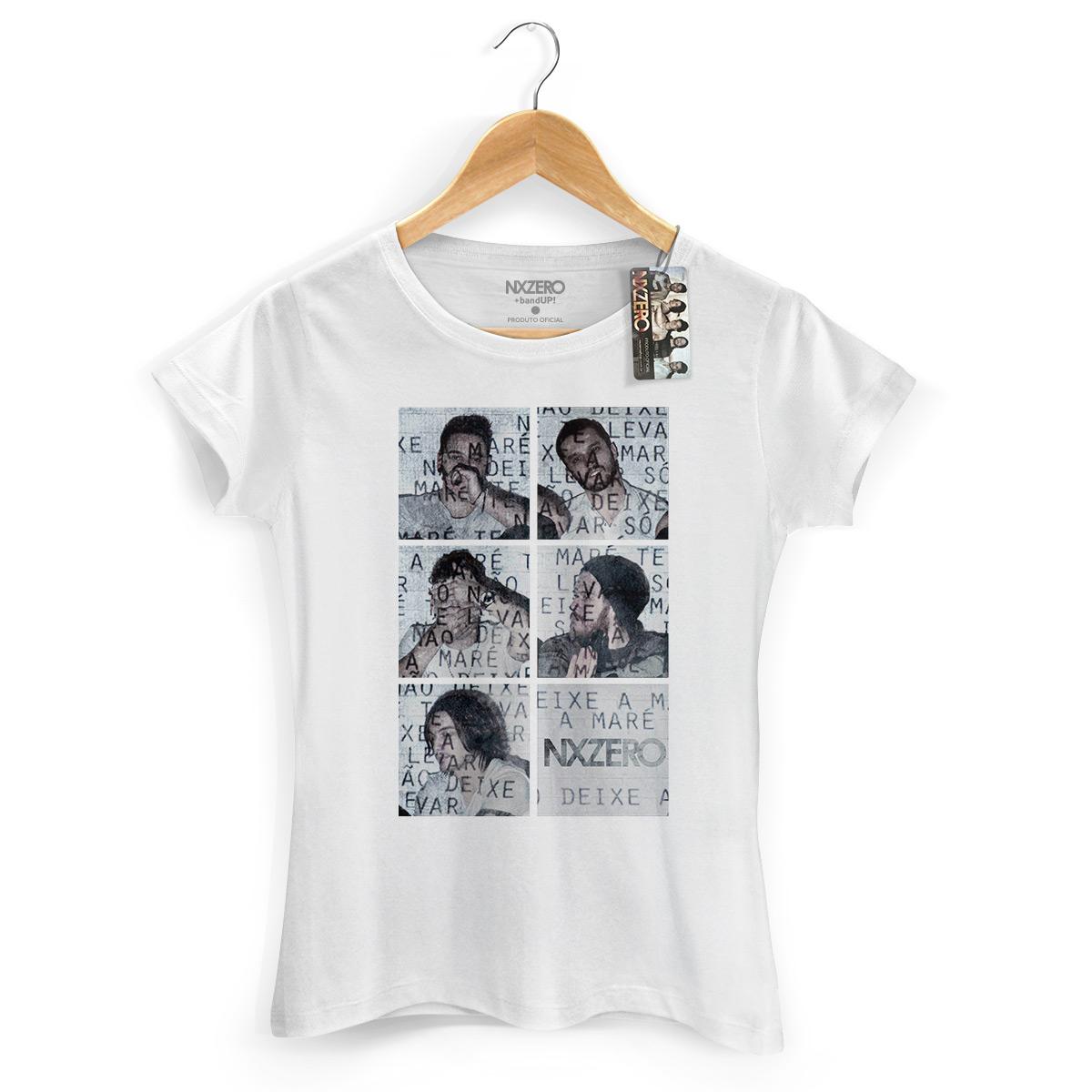 Camiseta Feminina NXZero Nao Deixe a Mare Te Levar Branca