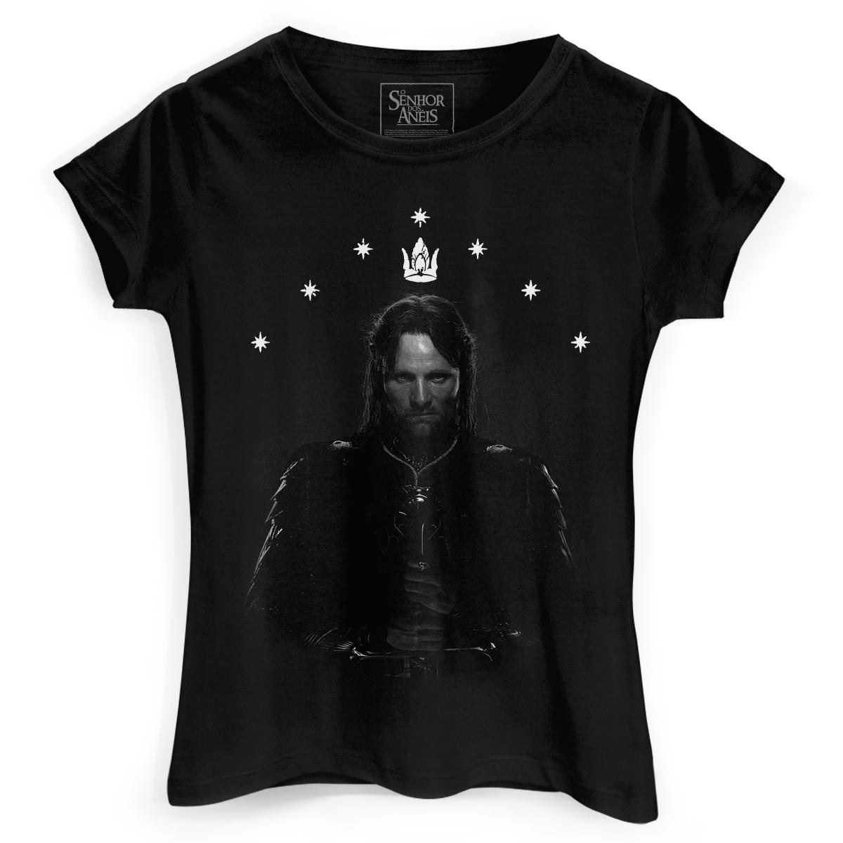 Camiseta Feminina O Senhor dos Anéis Aragorn