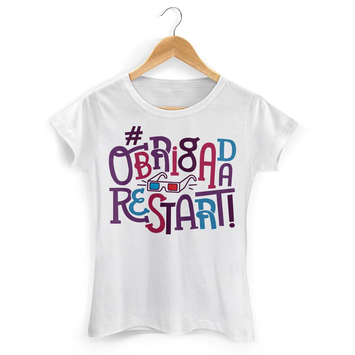 Camiseta Feminina #ObrigadaRestart