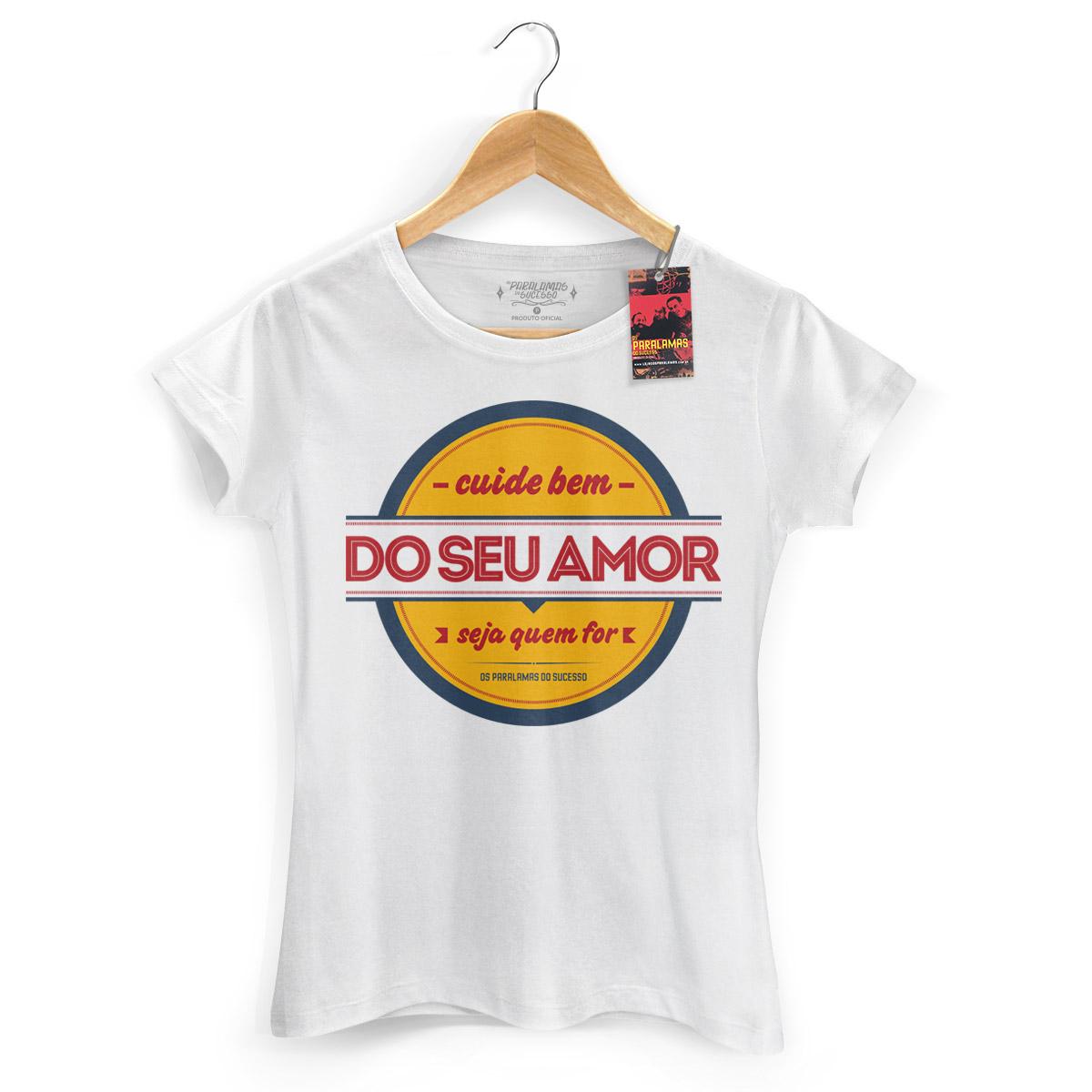 Camiseta Feminina Os Paralamas Do Sucesso Cuide Bem do Seu Amor