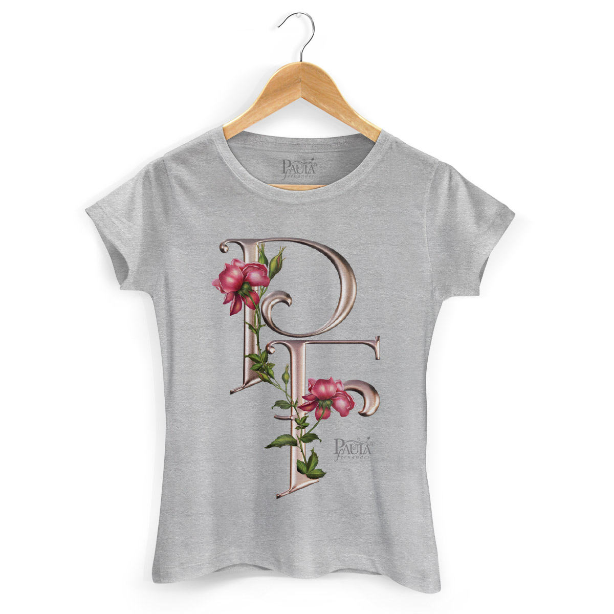 Camiseta Feminina Paula Fernandes Flowers