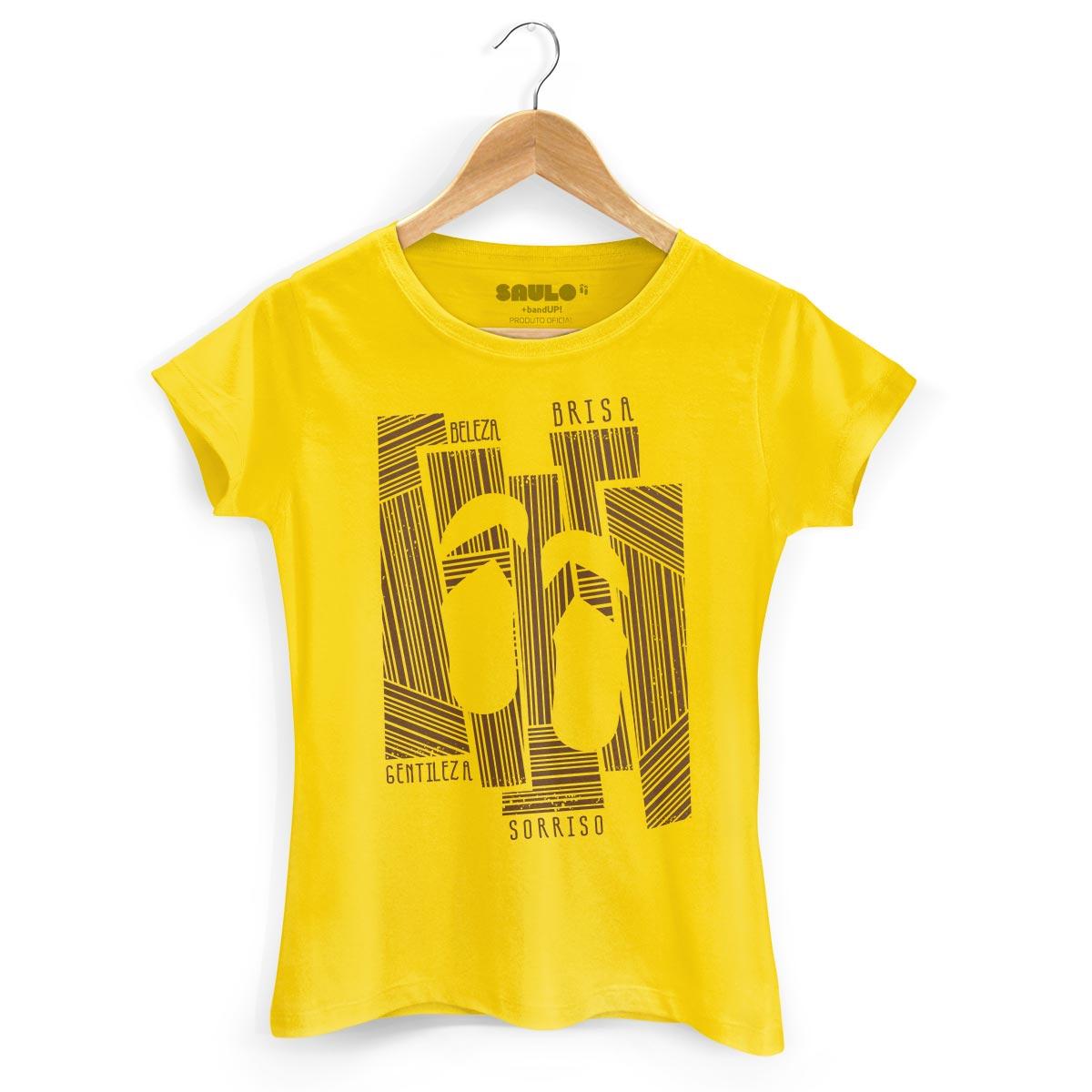 Camiseta Feminina Saulo Beleza, Brisa, Gentileza e Sorriso
