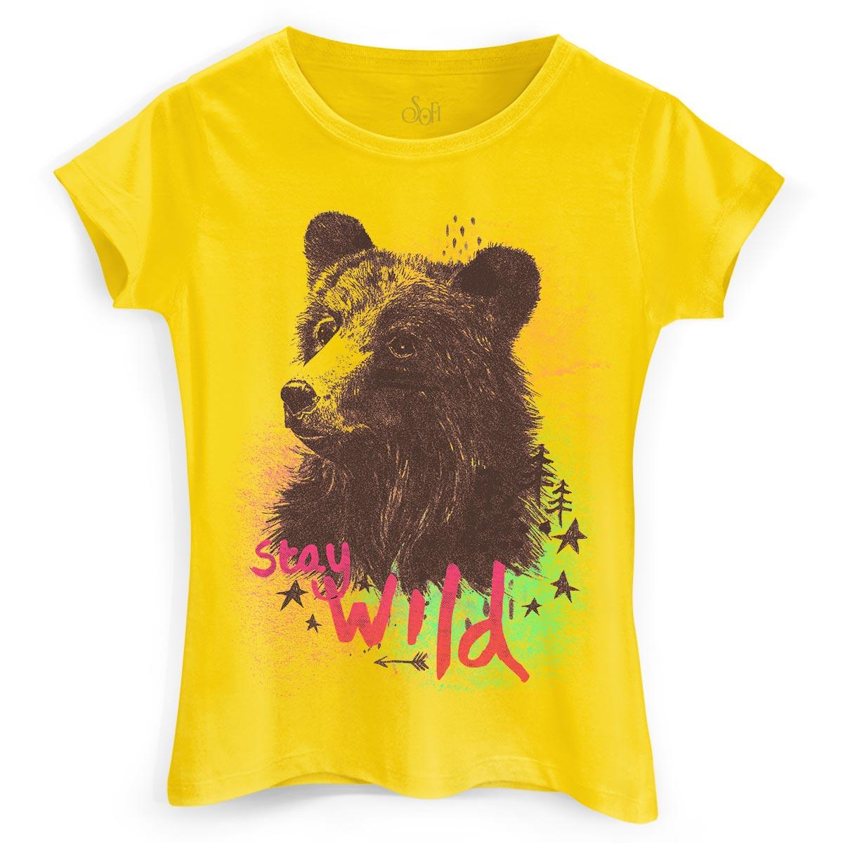 Camiseta Feminina Sofia Oliveira Stay Wild