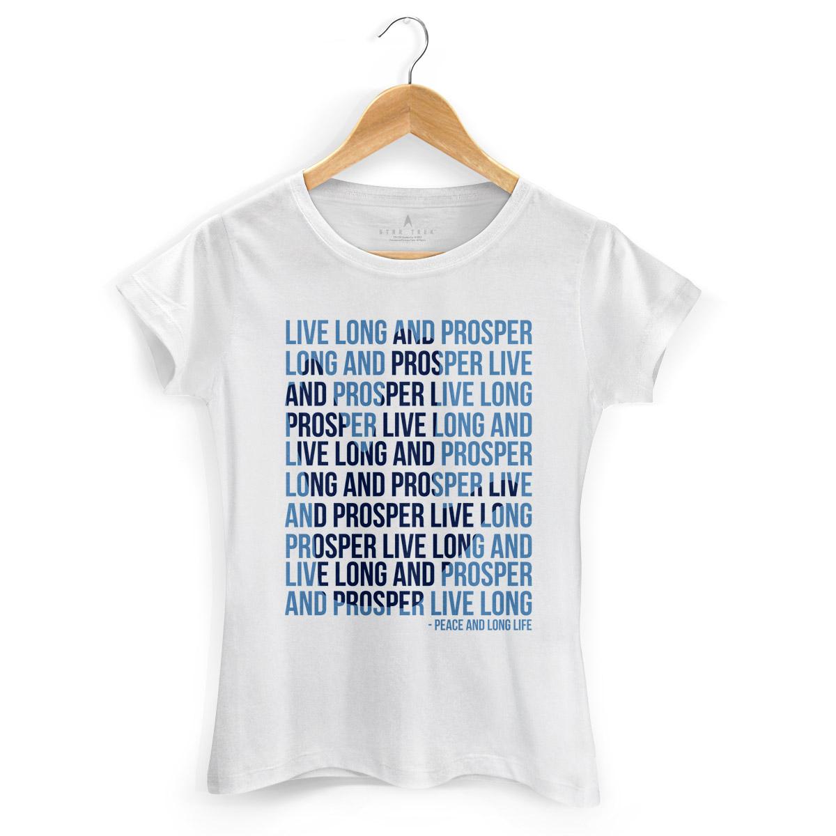Camiseta Feminina Star Trek Live Long And Prosper