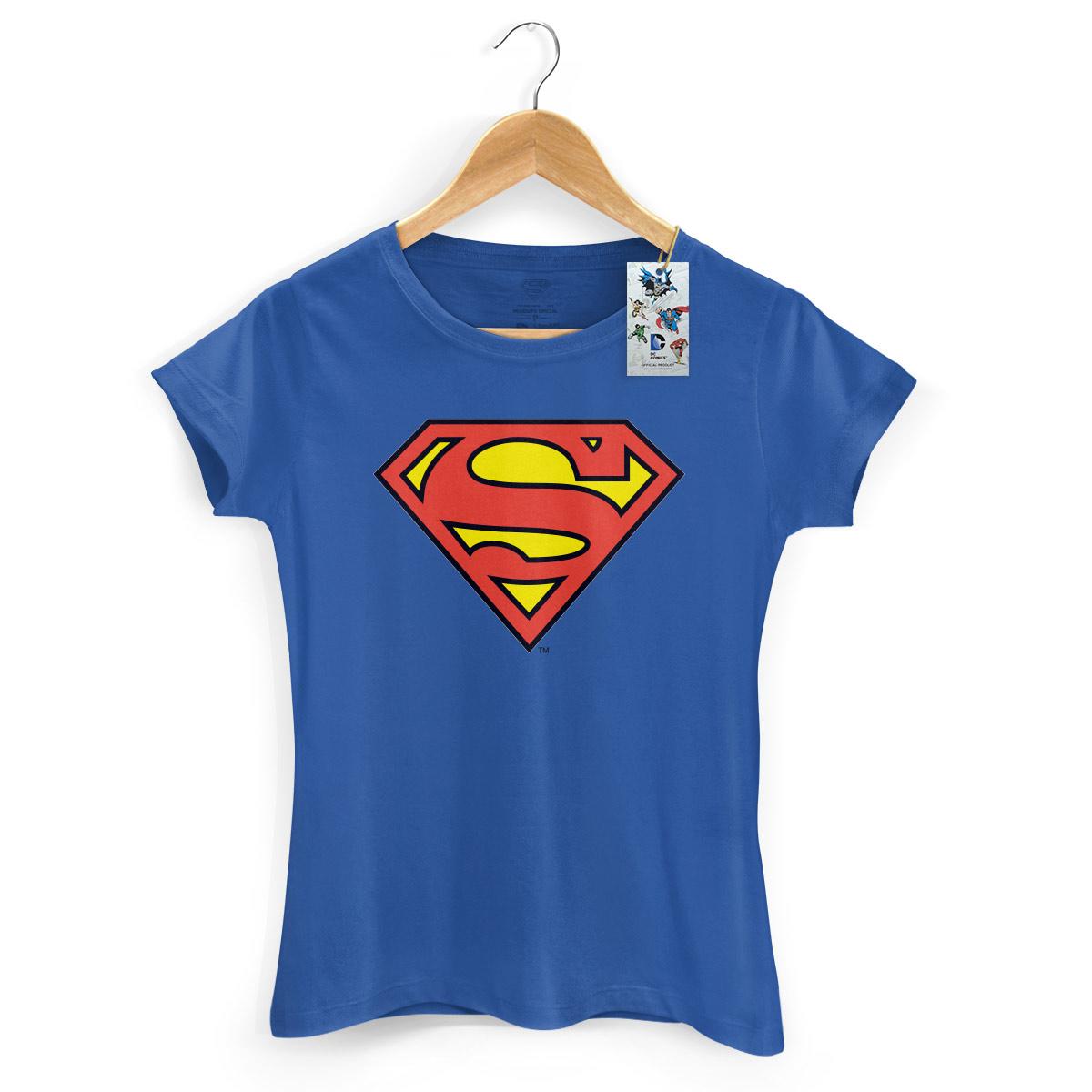 Camiseta Feminina Supergirl Logo Oficial