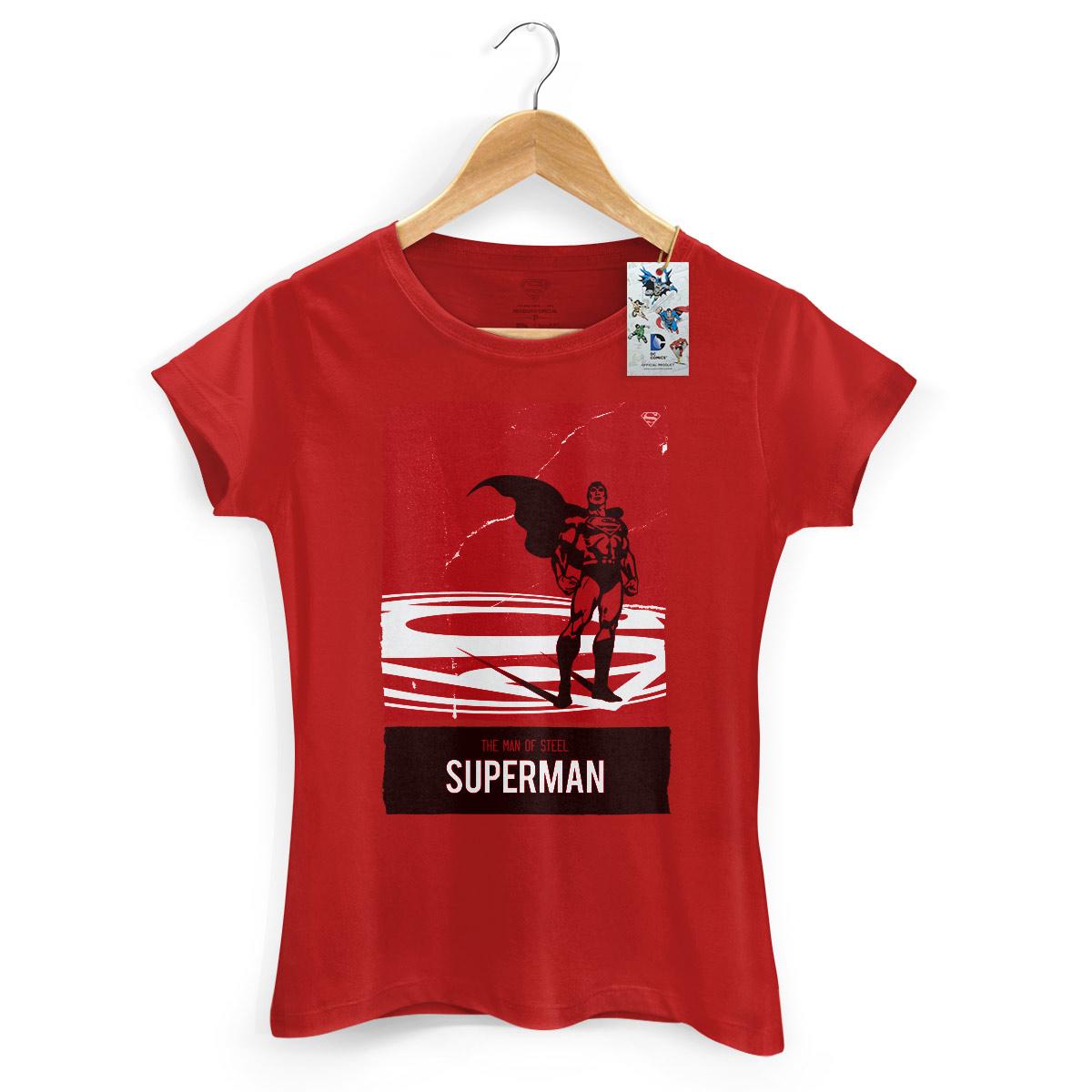 Camiseta Feminina Superman The Man Of Steel