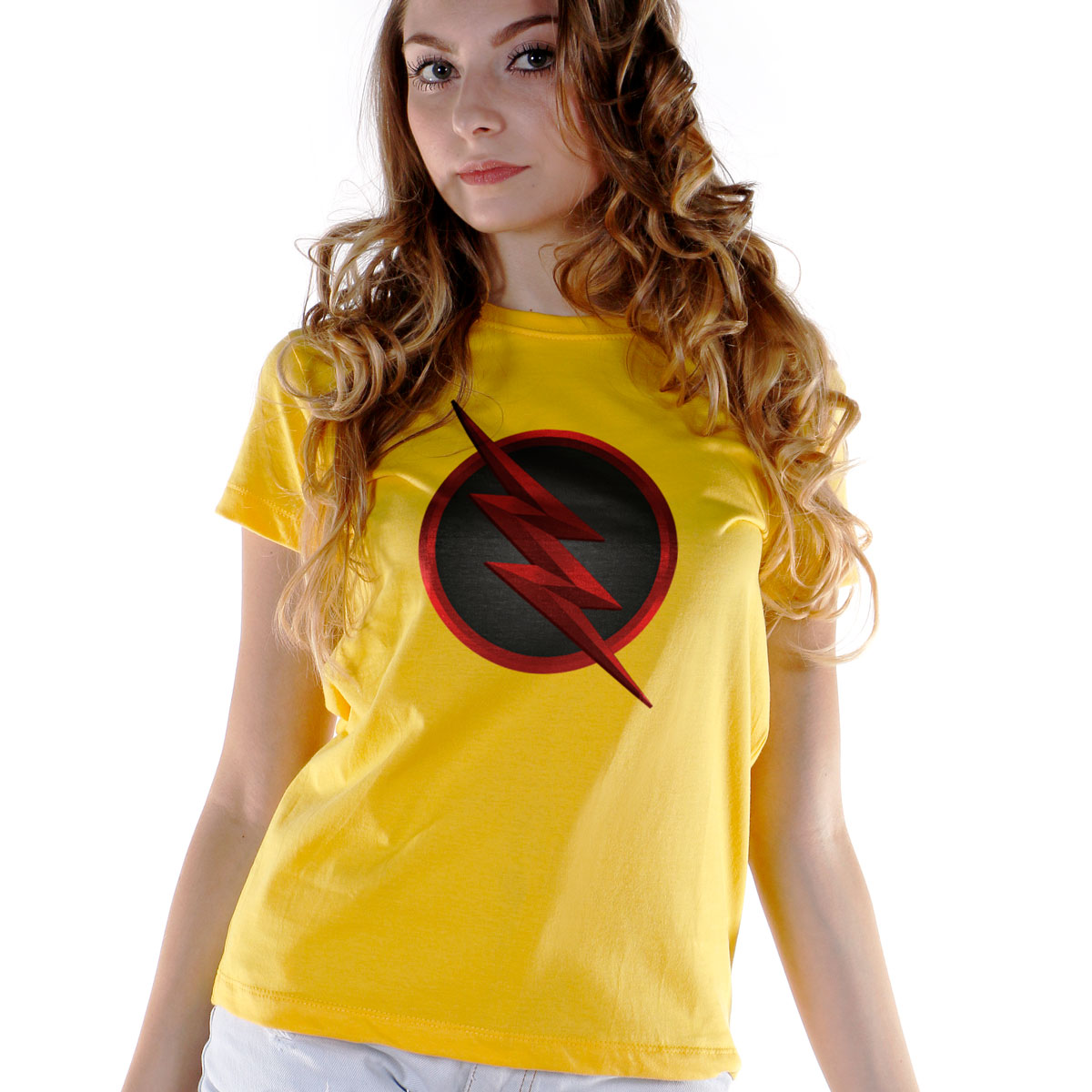 Camiseta Feminina The Flash Série Logo Reverse