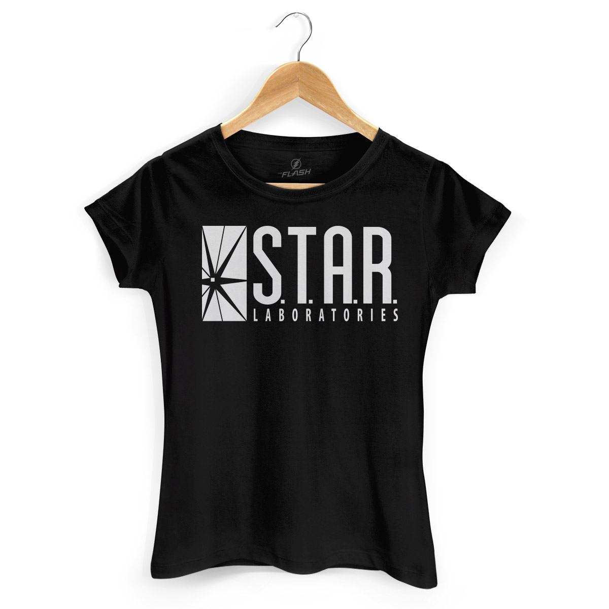 Camiseta Feminina The Flash Serie STAR Laboratories