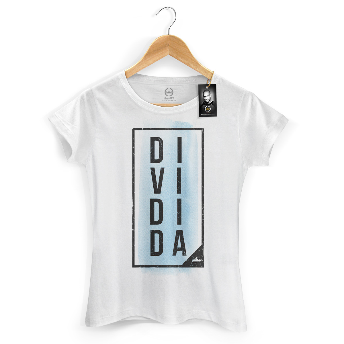Camiseta Feminina Thiaguinho Dividida Type