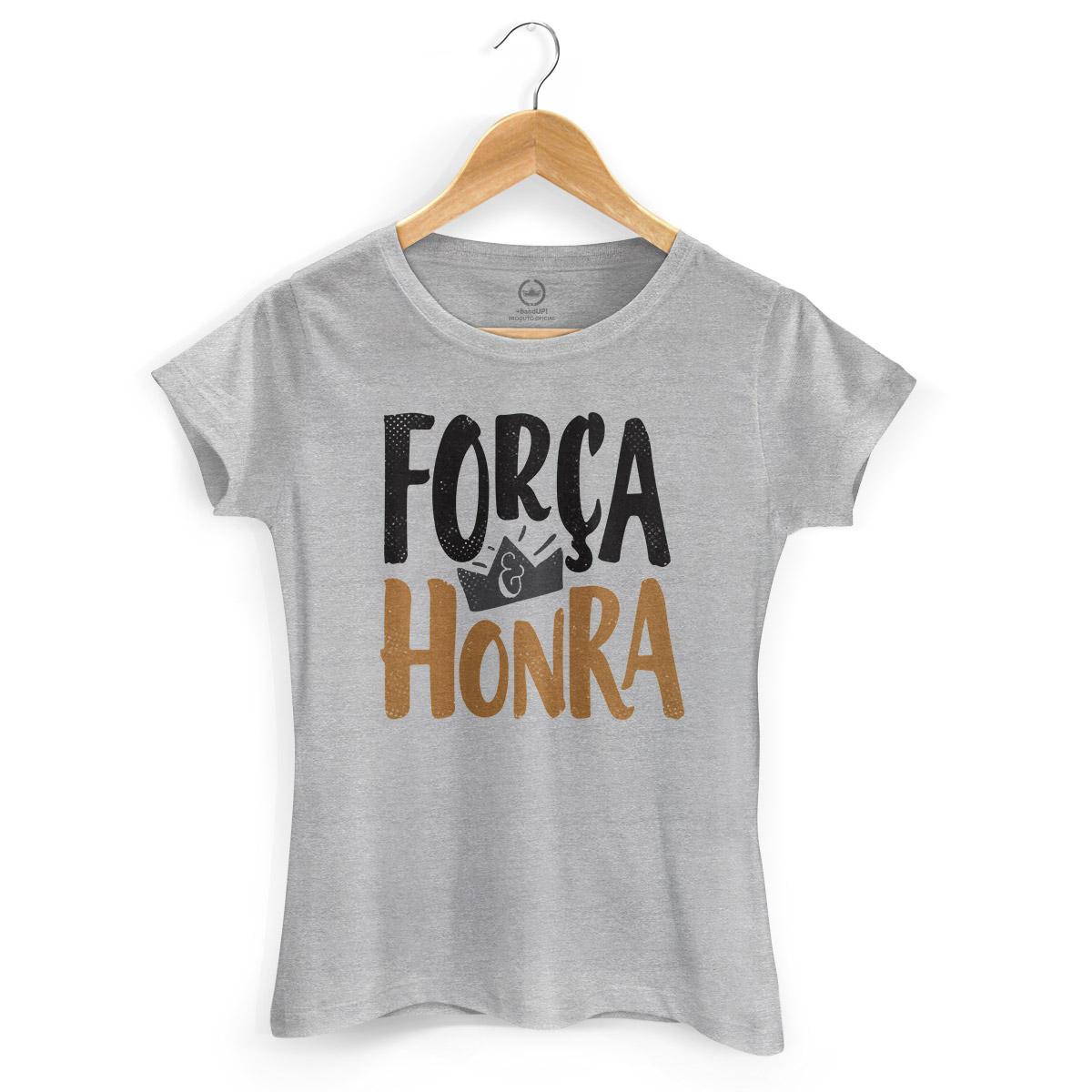 Camiseta Feminina Thiaguinho Força e Honra Gray