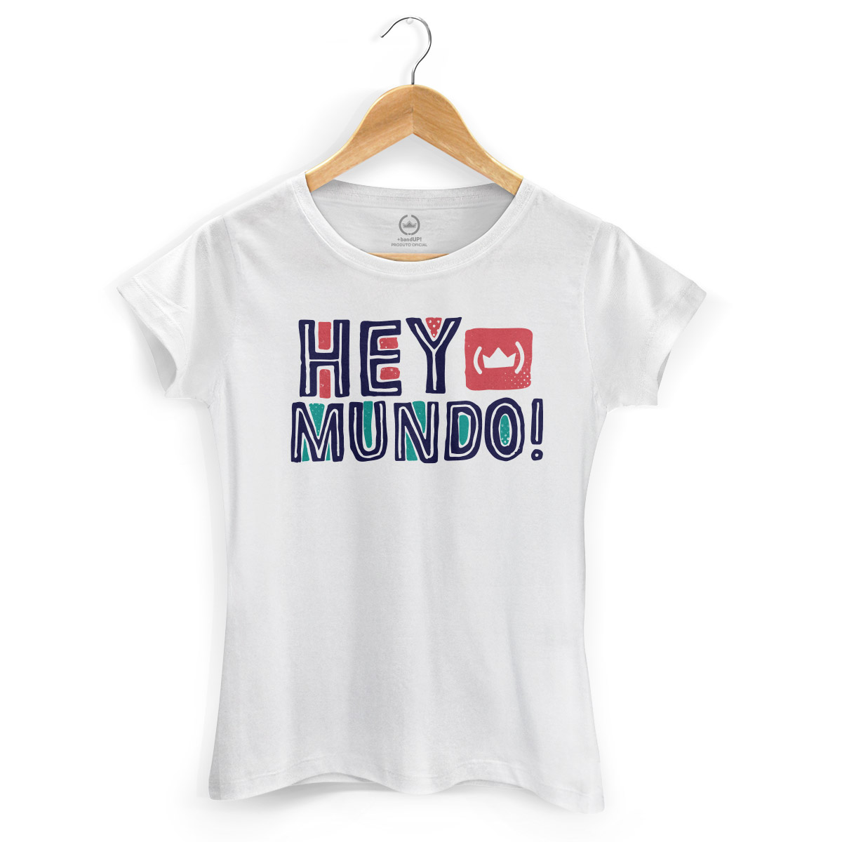 Camiseta Feminina Thiaguinho Hey Mundo! Logo