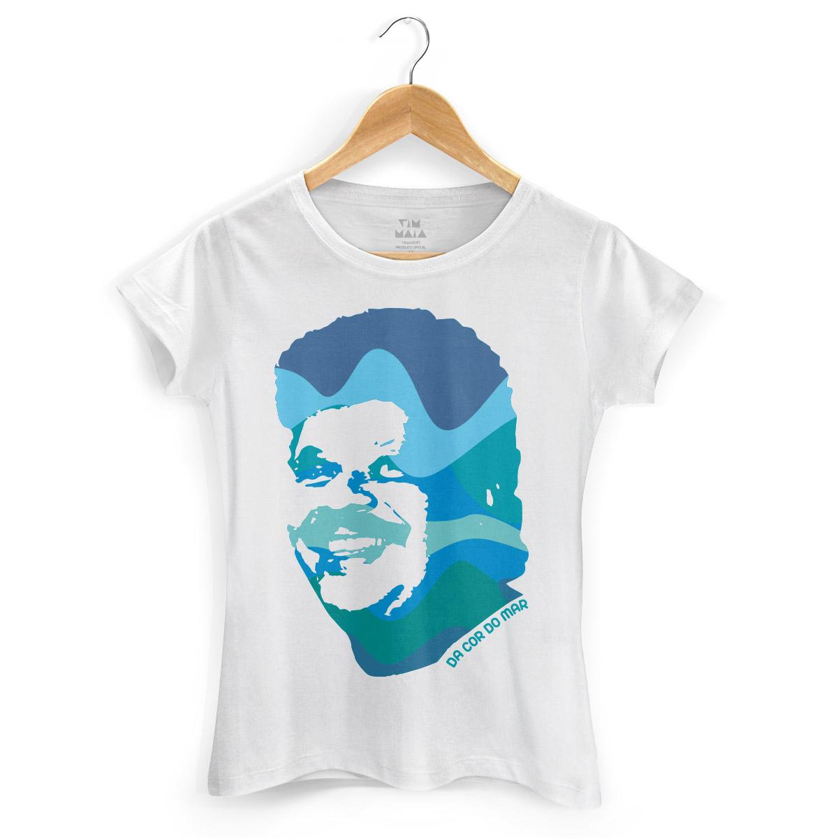 Camiseta Feminina Tim Maia Azul da Cor do Mar