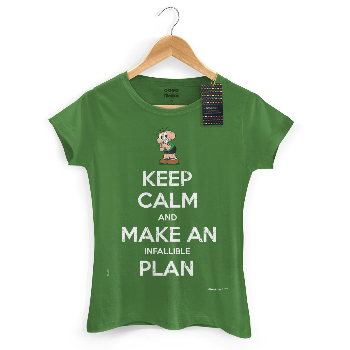 Camiseta Feminina Turma Da Mônica Cool Keep Calm And Make Infallible Plan