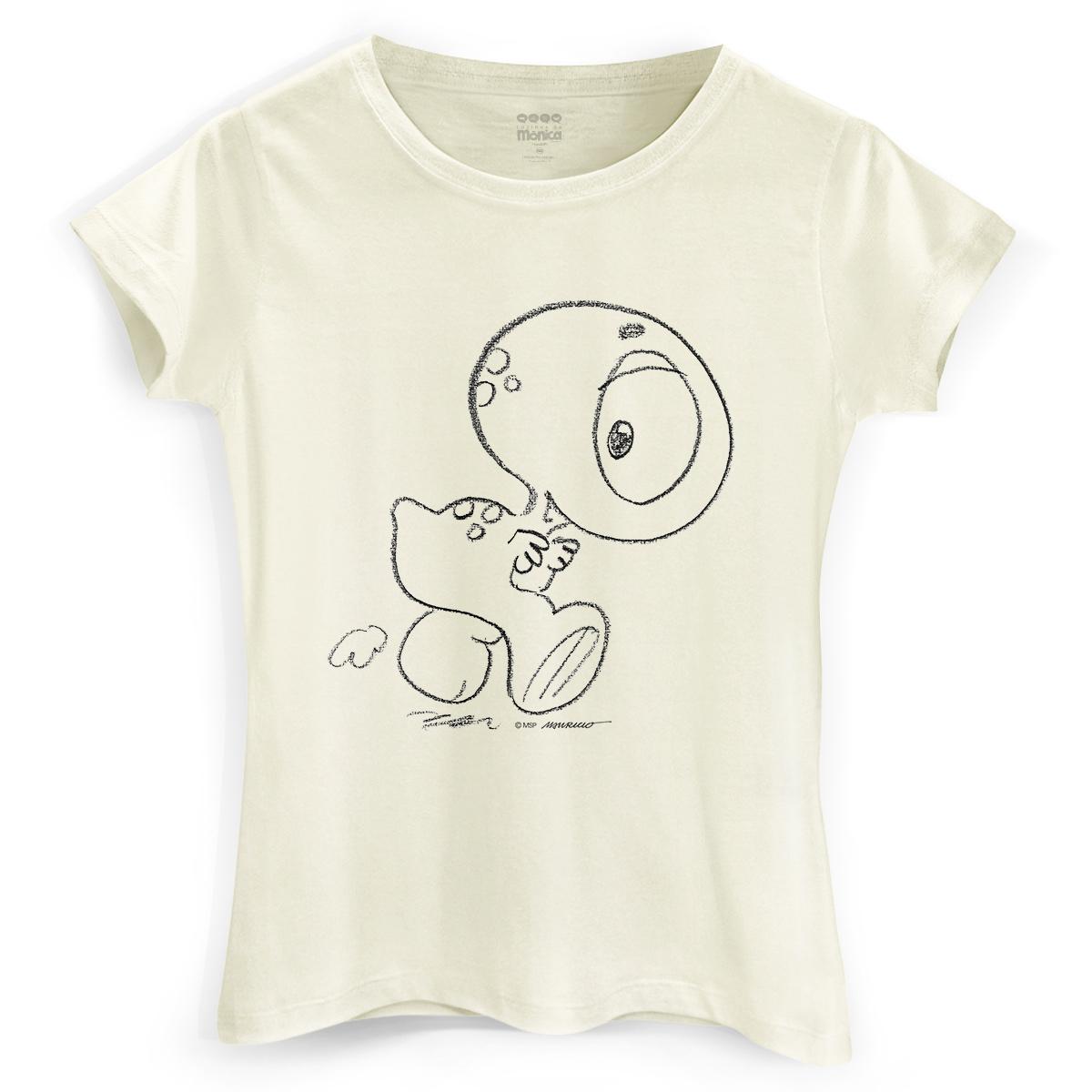 Camiseta Feminina Turma da Mônica Horácio Traço