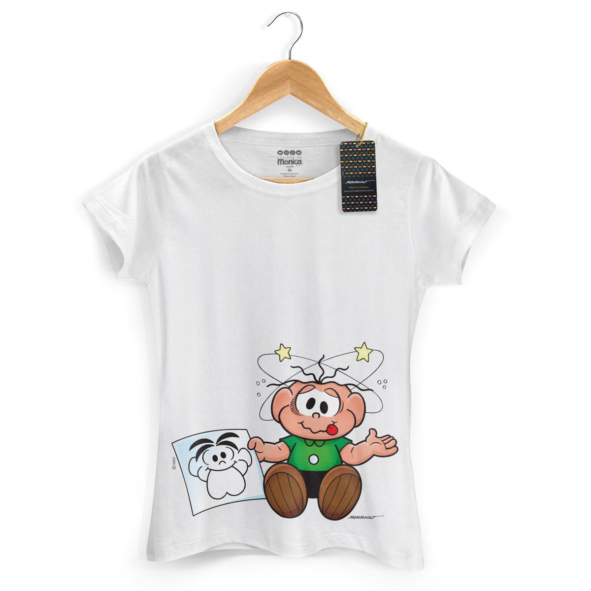Camiseta Feminina Turma Da Mônica Kids O Cebolinha Apanhou!