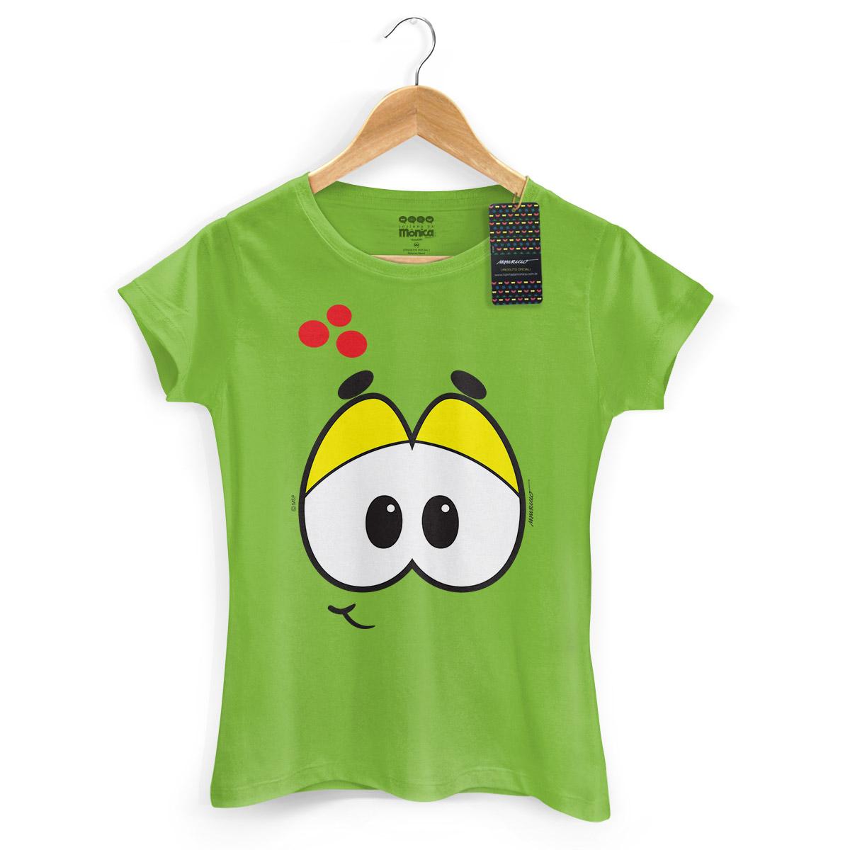 Camiseta Feminina Turma da Mônica Kids Olhões Horácio