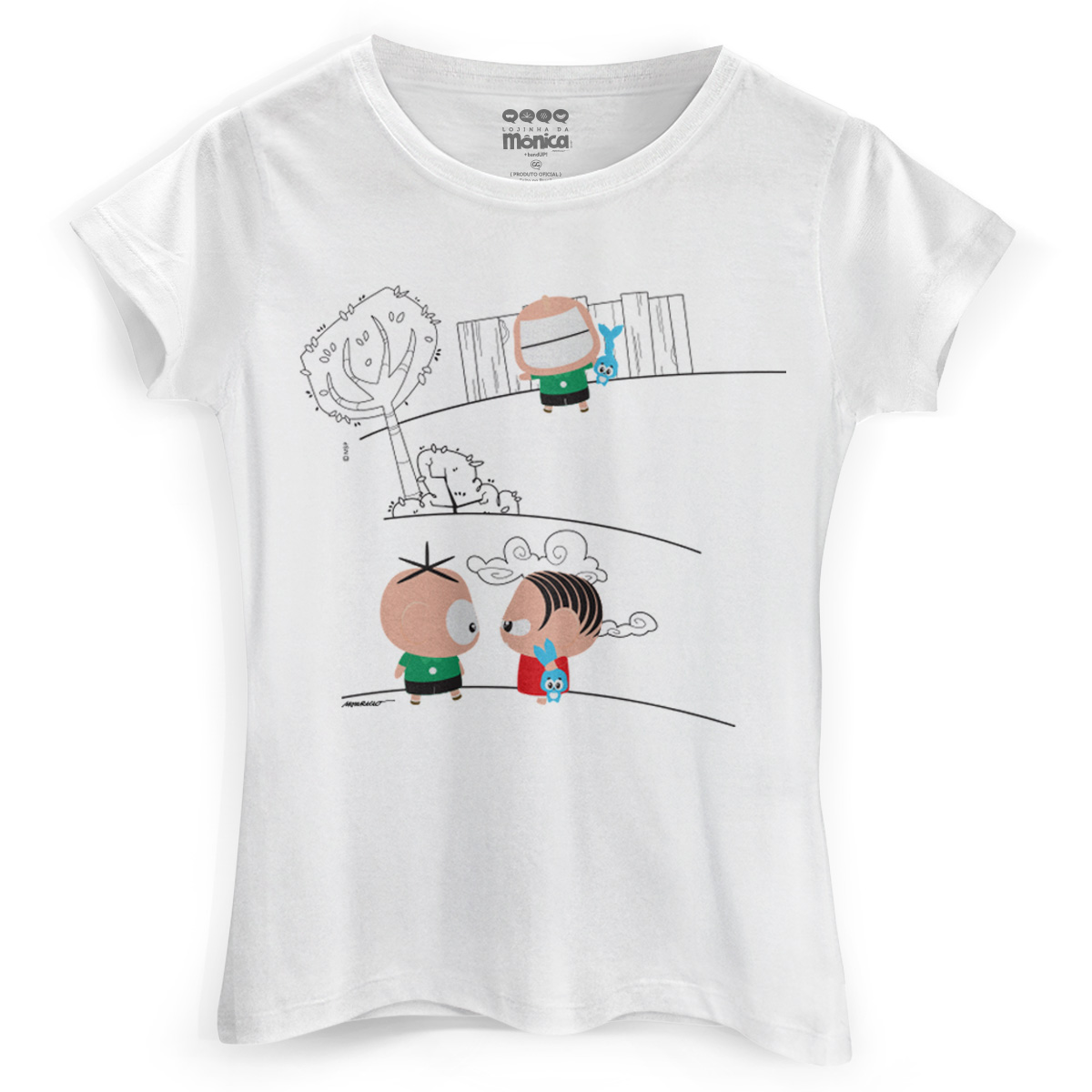 Camiseta Feminina Turma da Mônica Toy Angry Mônica 2
