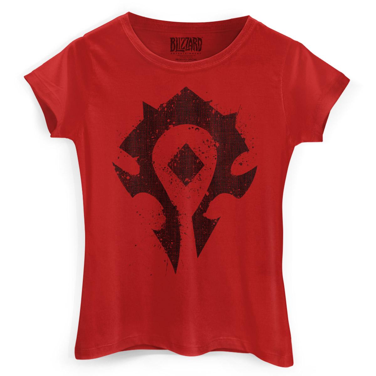 Camiseta Feminina World of Warcraft Horda