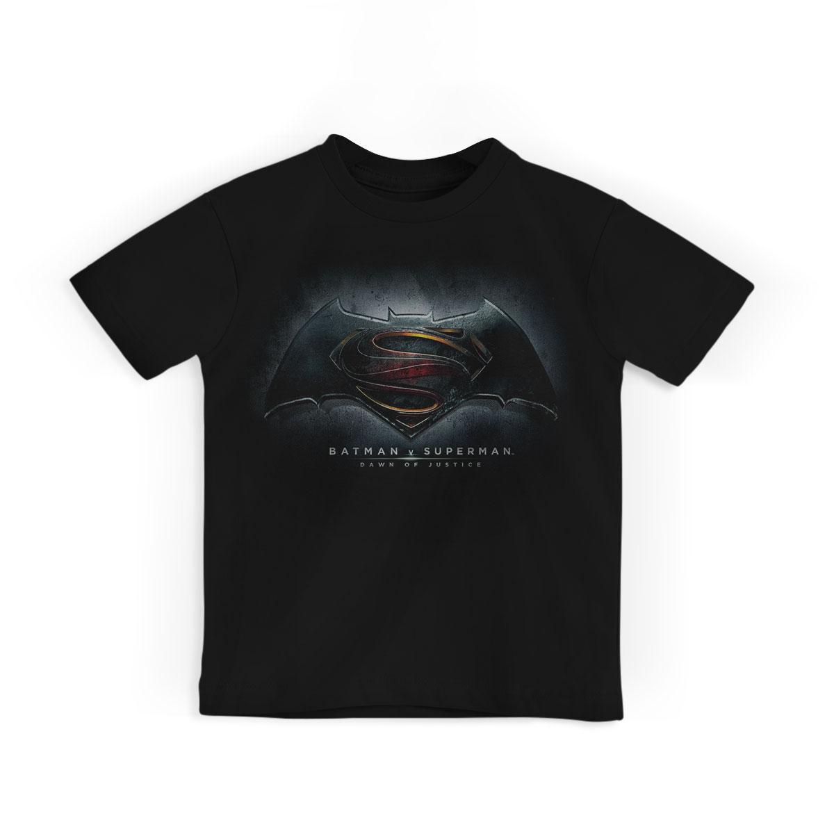 Camiseta Infantil Batman Vs Superman Dawn Of Justice