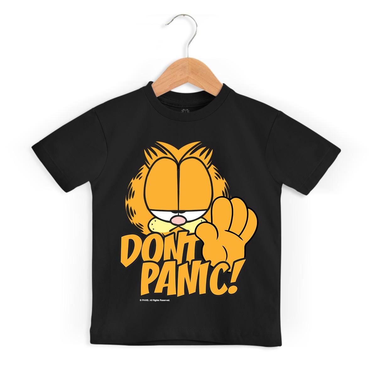Camiseta Infantil Garfield Don´t Panic!