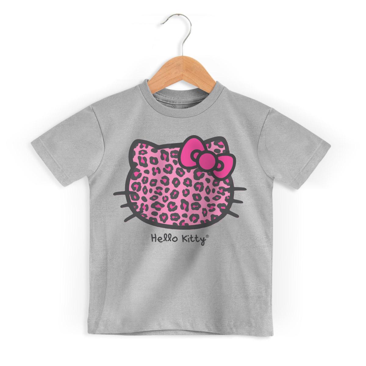 Camiseta Infantil Hello Kitty Animal Print
