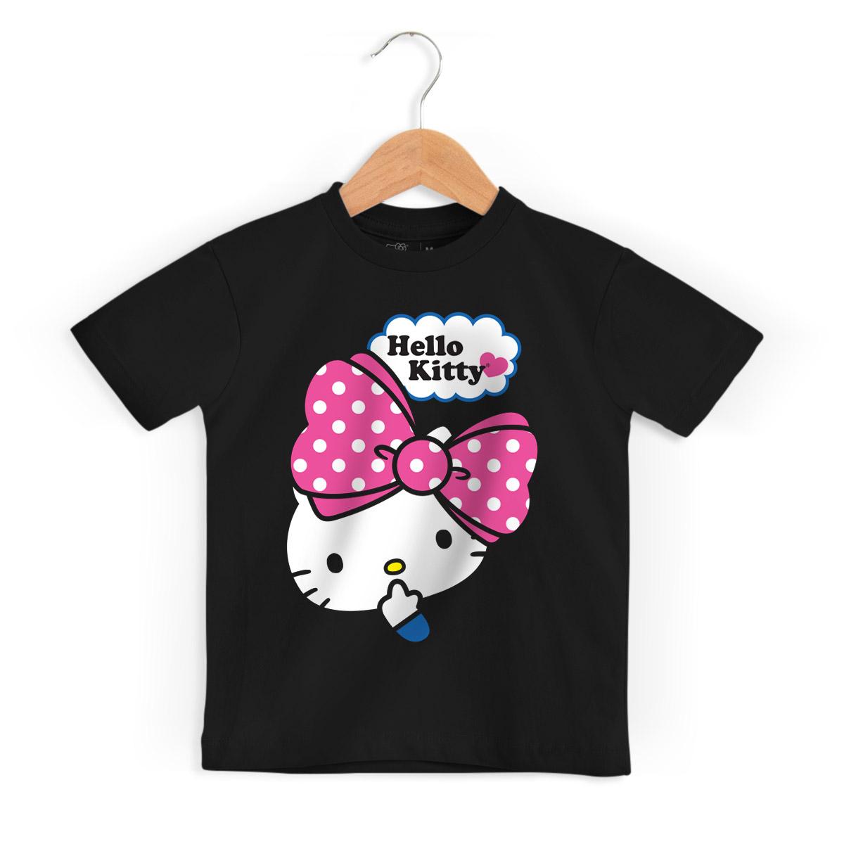 Camiseta Infantil Hello Kitty Big Ribbon