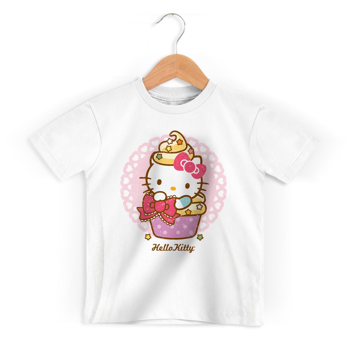 Camiseta Infantil Hello Kitty Cup Kitty 2
