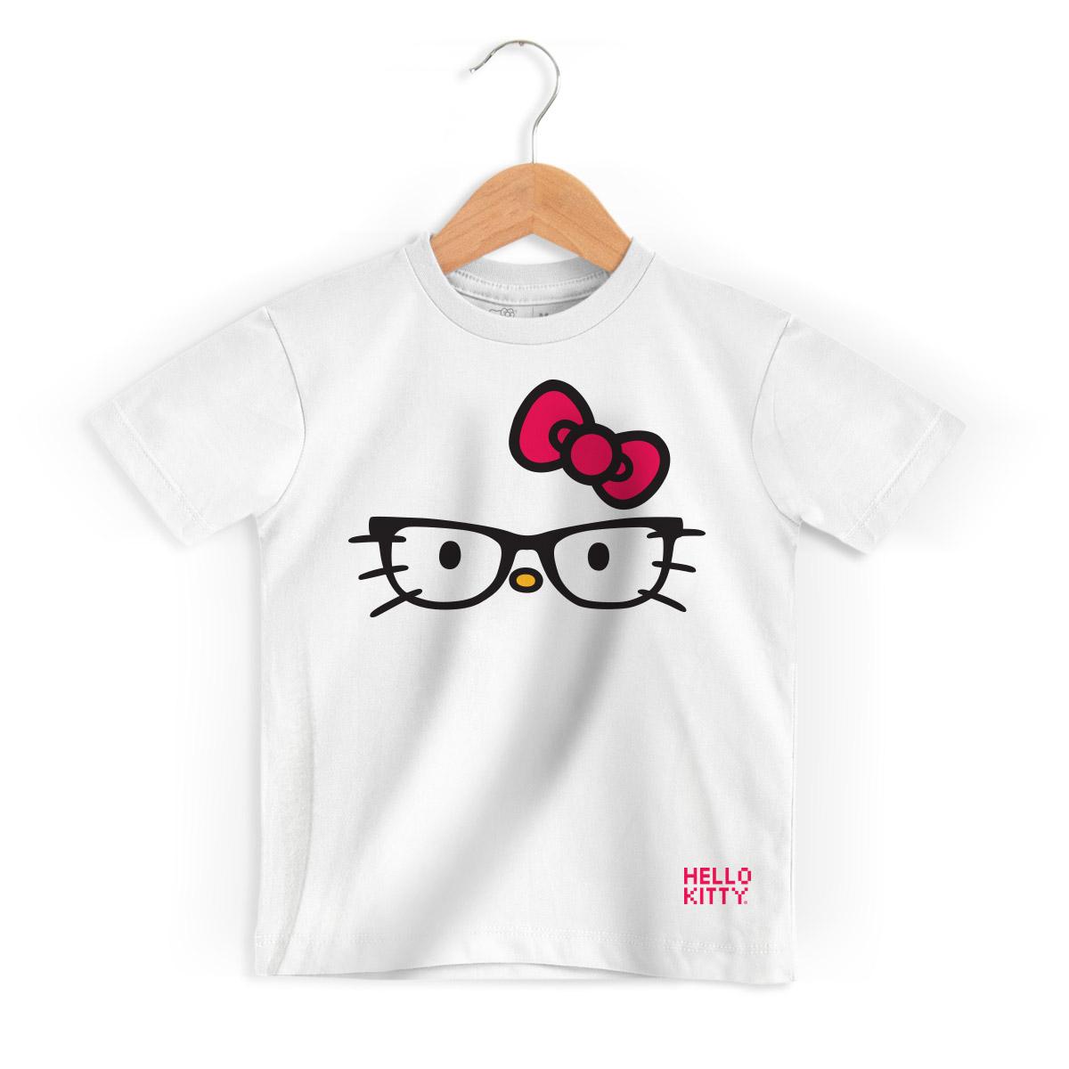 Camiseta Infantil Hello Kitty Glasses