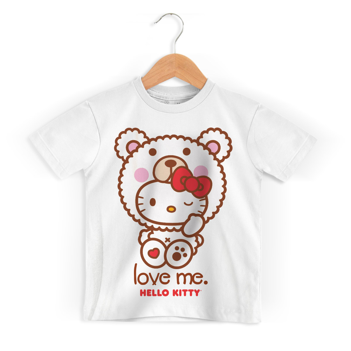 Camiseta Infantil Hello Kitty Love Me