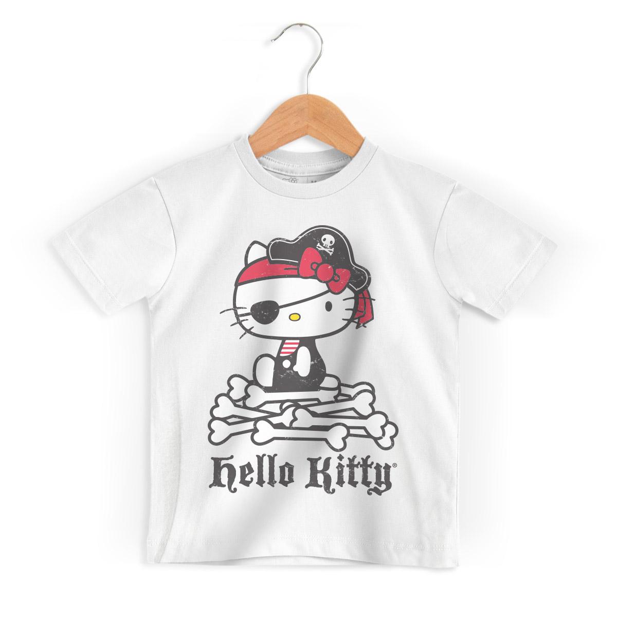 Camiseta Infantil Hello Kitty Pirate