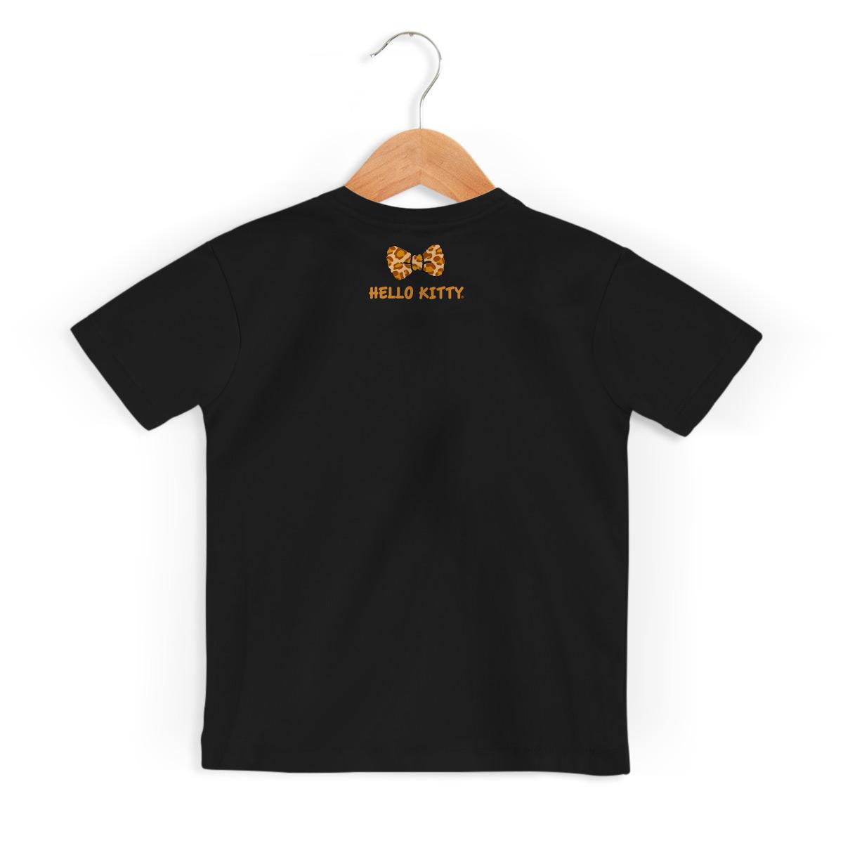 Camiseta Infantil Hello Kitty Print Fuzzy