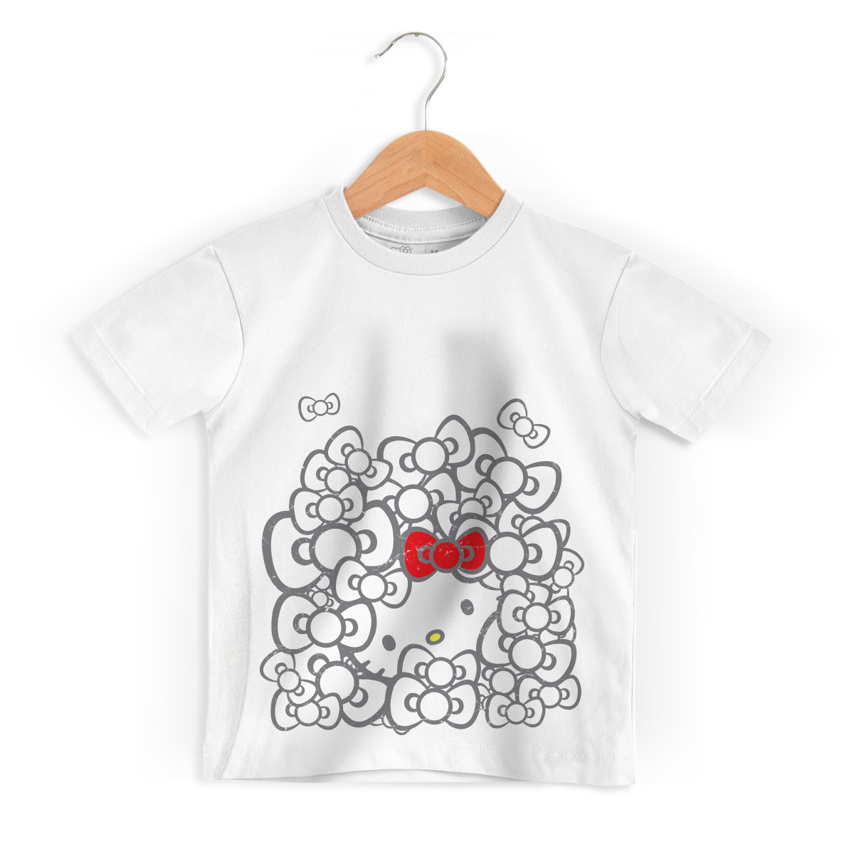 Camiseta Infantil Hello Kitty Ribbons