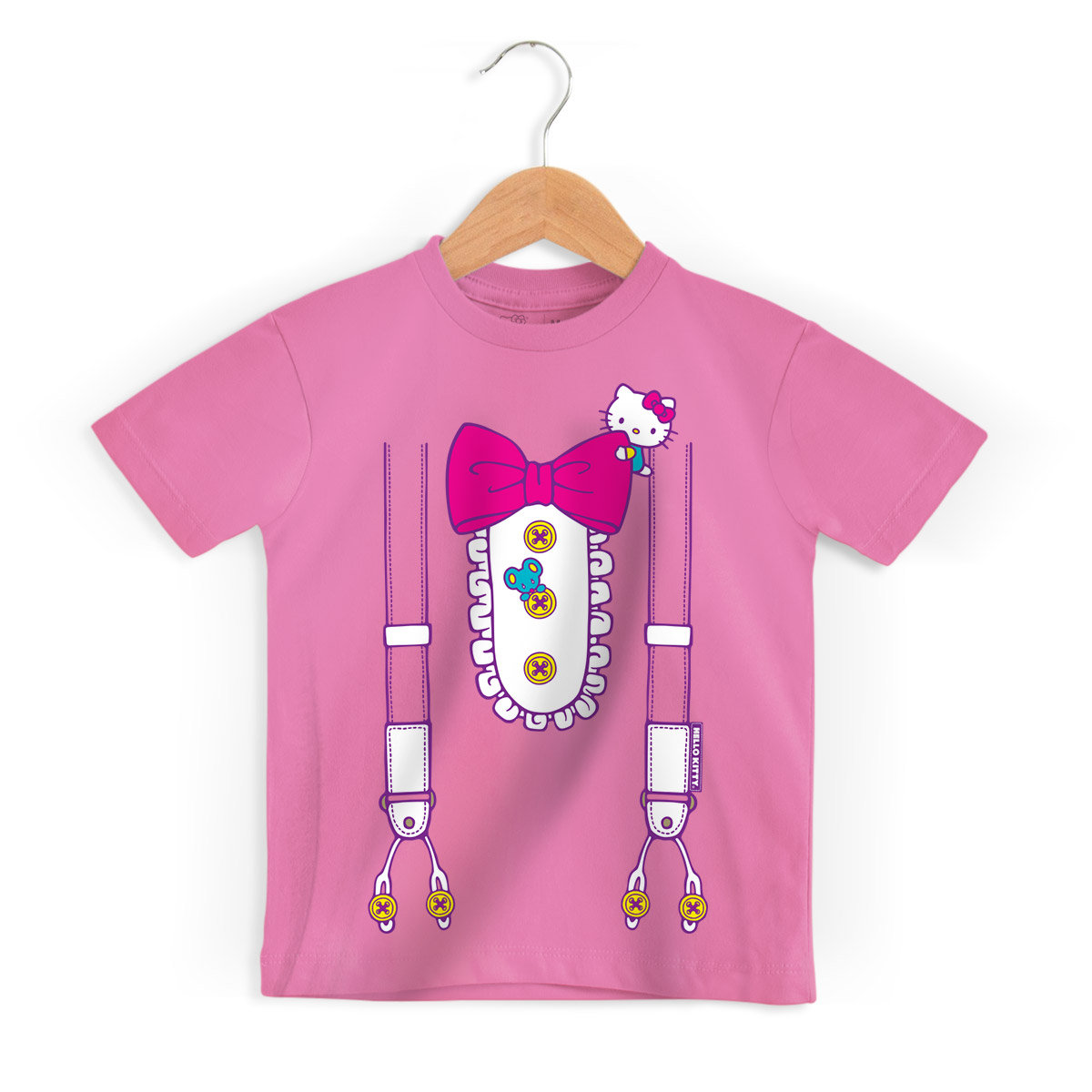 Camiseta Infantil Hello Kitty Suspender