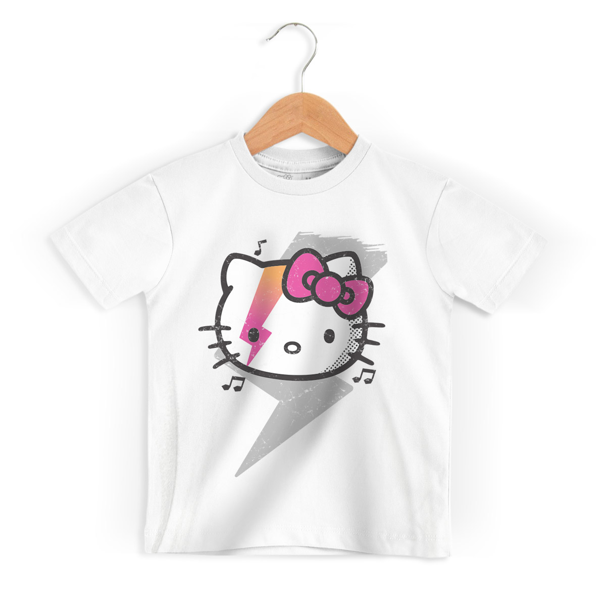 Camiseta Infantil Hello Kitty Teddy Rock 2