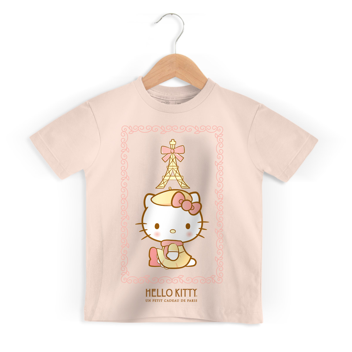 Camiseta Infantil Hello Kitty Un Petit Cadeau De Paris