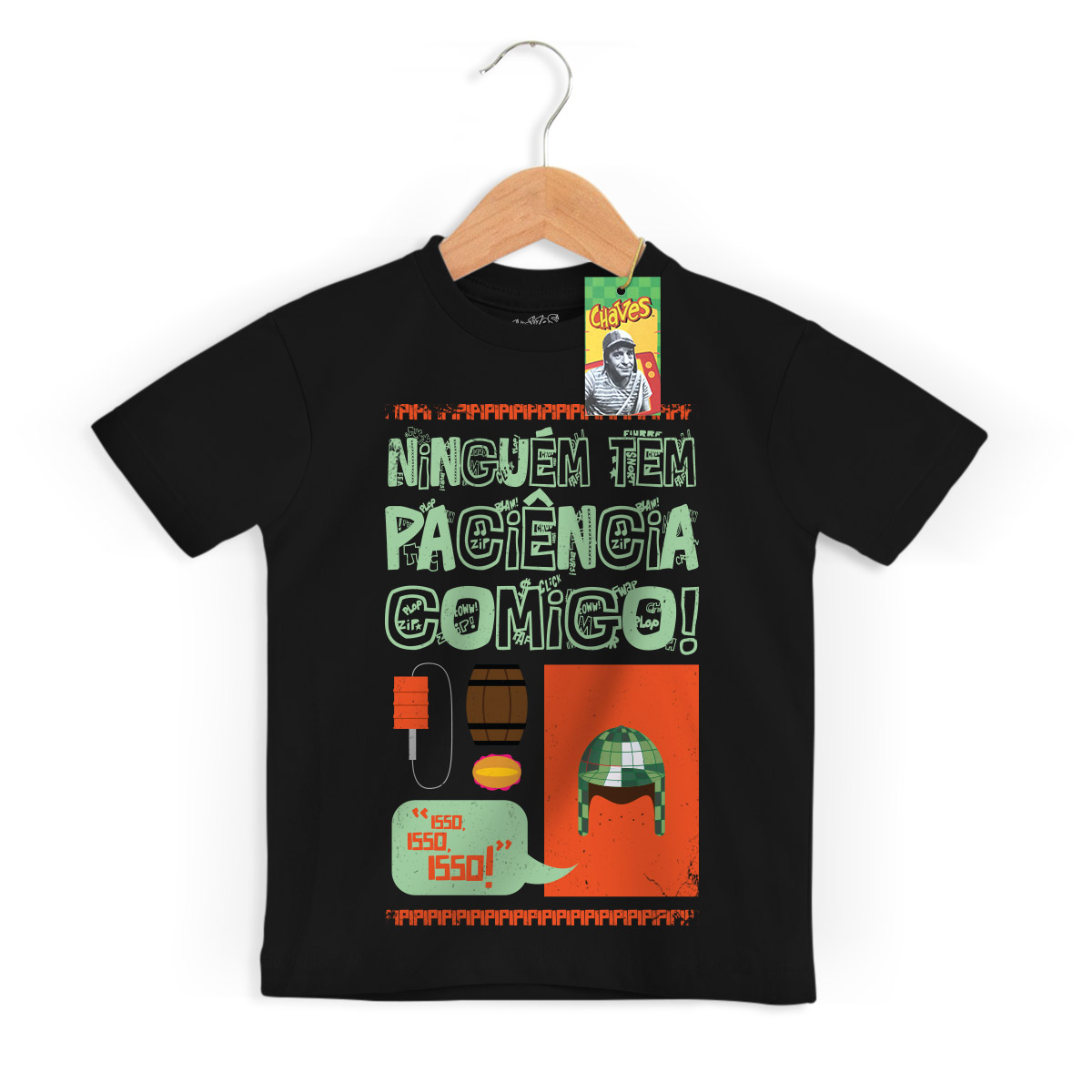 Camiseta Infantil Ícones Chaves Vintage