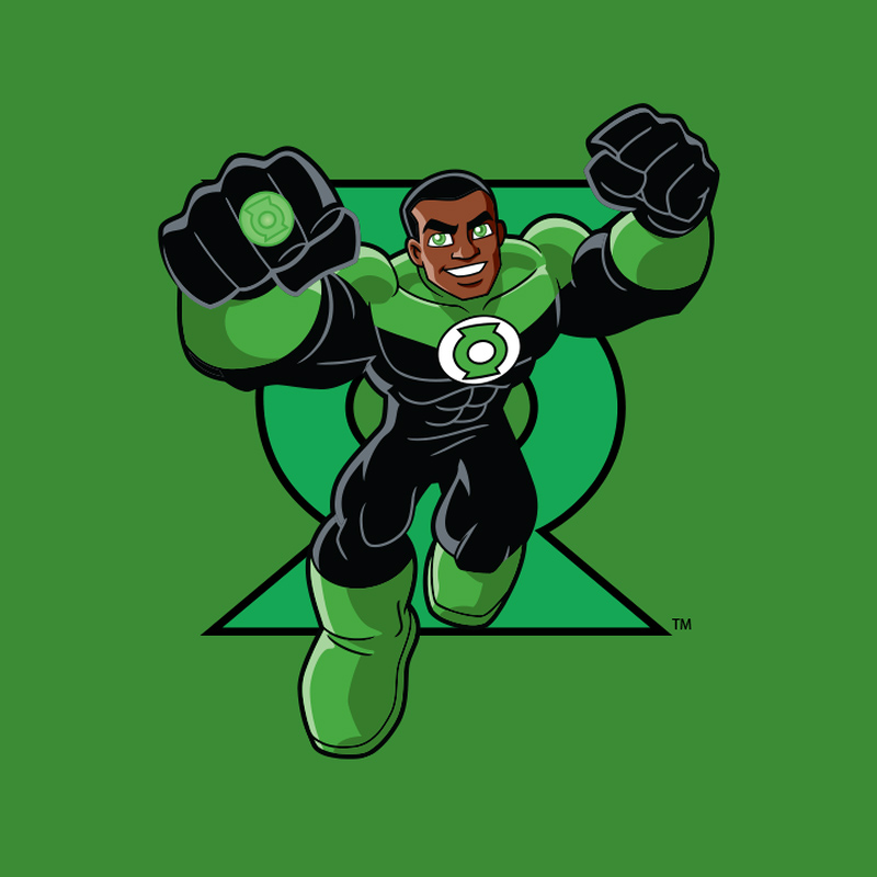 Camiseta Infantil Lanterna Verde Em Ação