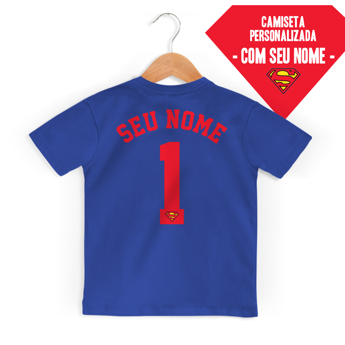 Camiseta Infantil Superman Logo Name