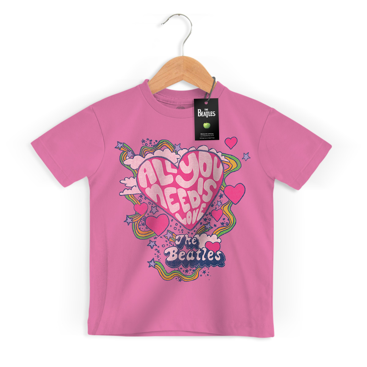 Camiseta Infantil The Beatles All You Need Is Love 2
