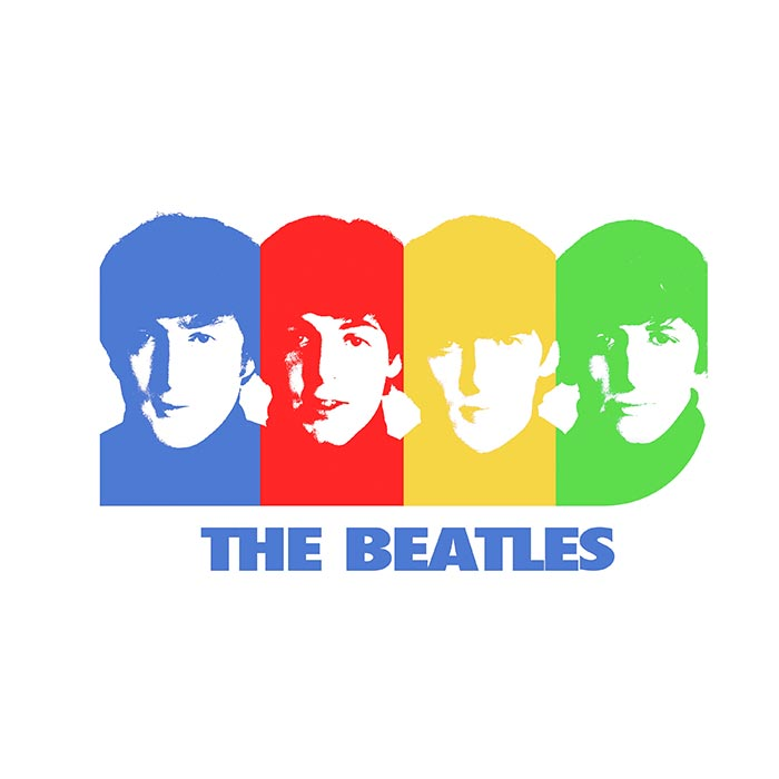 Camiseta Infantil The Beatles Four Colour Picture