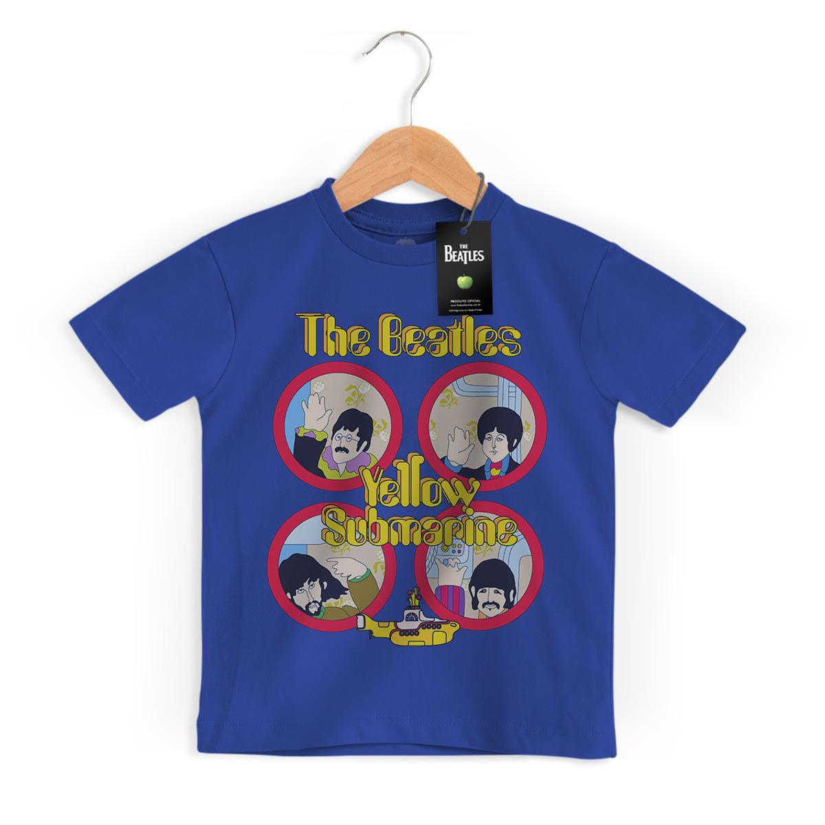 Camiseta Infantil The Beatles Yellow Submarine Original