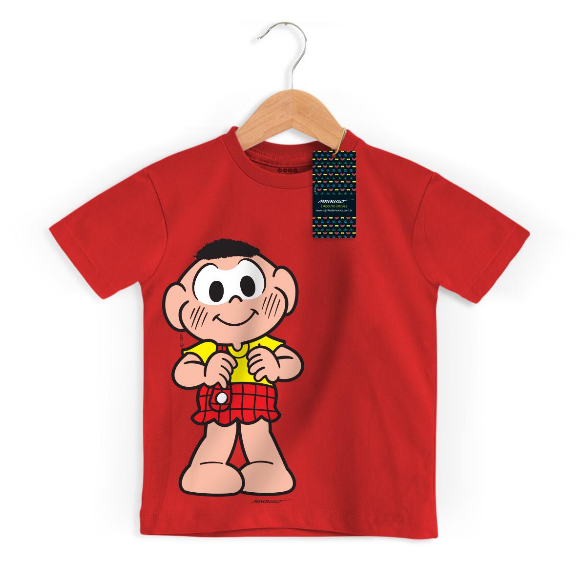 Camiseta Infantil Turma Da Mônica Kids Cascão