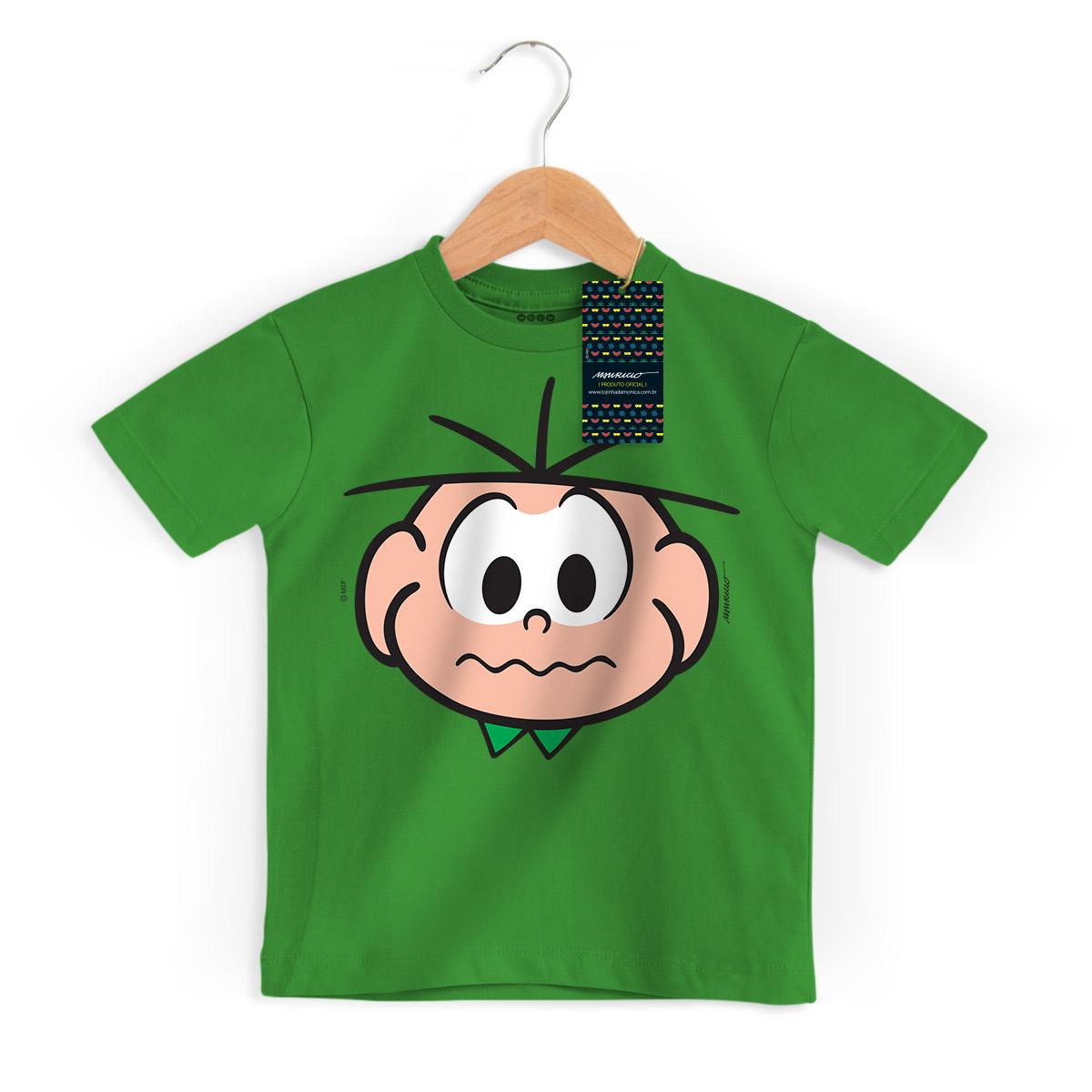 Camiseta Infantil Turma Da Mônica Kids Face Cebolinha