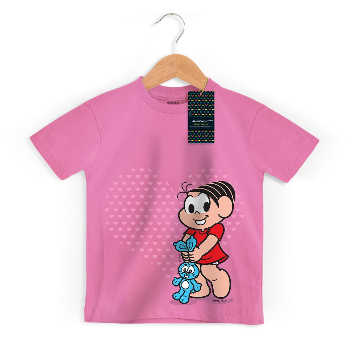 Camiseta Infantil Turma da Mônica Kids Mônica Heart