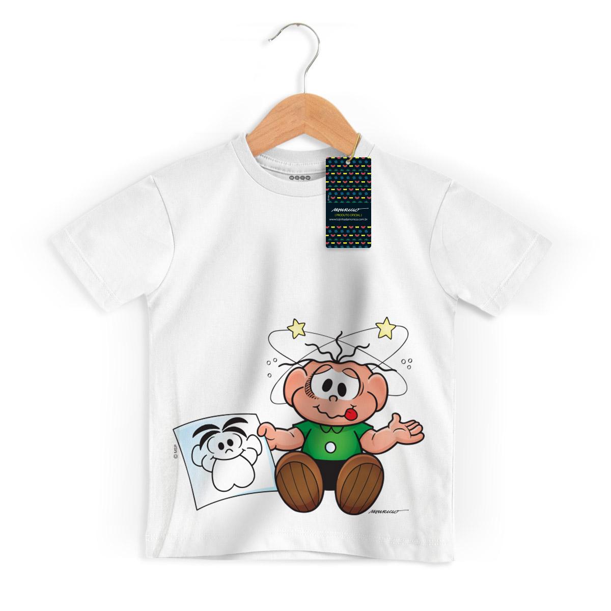 Camiseta Infantil Turma Da Mônica Kids O Cebolinha Apanhou!